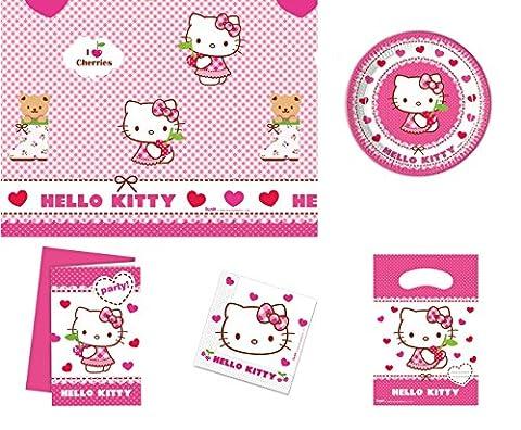 Kit anniversaire HELLO KITTY 12 à 16 personnes - décoration
