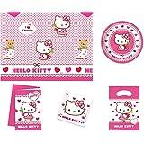 kit anniversaire hello kitty 12 16 personnes dcoration fte enfant fille nappe