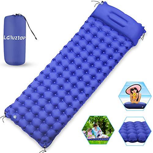 Laluztop Camping Isomatte Luftmatratze, Aaufblasbare Matratzen, Leichte Schlafmatte,Tragbar Gemütlich und Kleines Packmaß, Ideal für Outdoor Camping Wandern, 195x70x9,5cm