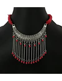Trendy Stylist Latest Fancy / Designer Thread Beaded Oxidized Party Wear,Casual Wear Necklace For Women & Girls