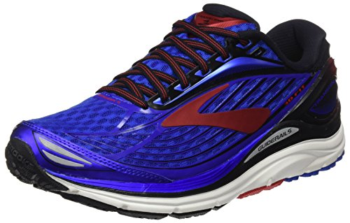 Brooks Transcend 4, Scarpe da Corsa Uomo, Blu (Electric Blue/Black/High Risk Red), 44.5 EU