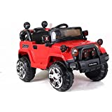 Toyhouse Off Roader Jeep Rechargeable Battery Operated-Ride-on for Kids, Red