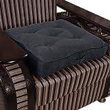 Homescapes extrahohes Sitzkissen orthopädisch Sitzerhöhung Aufstehhilfe ca. 50 x 50 x 10 cm, Bezug aus hochwertigem Velours, 100% Polyester Füllung, uni schwarz