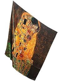 Prettystern - 110cm de gran tamaño satén de seda crepé pesado (16 mm de espesor) de tela de seda handroulier Nouveau - Gustav Klimt