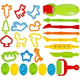 Faburo 23 Pcs Emporte-pièces Moules Kit pour Argile Pâte à Modeler Coupeurs de biscuits pour enfants