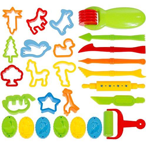 Faburo Emporte-pièces Moules Kit pour Argile Pâte à Modeler Coupeurs de biscuits pour enfants