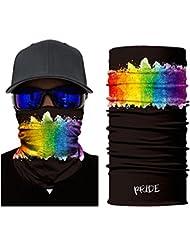 Pañuelo bandana multiuso para deportes Outdoor PRIDE (Negro)