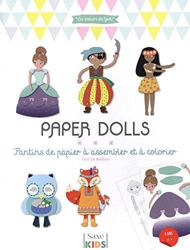PAPER DOLLS Pantins de papier à assembler et à colorier