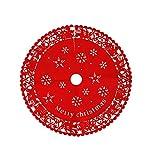 Vetrineinrete® Copribase tappeto per albero di natale in feltro rosso rotondo con decorazioni natalizie da 60 e 100 cm addobbo per la casa