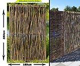 bambus-discount.com Haselnusszäune mit 180x180cm, Sommer Serie - Sichtschutzzaun Sichtschutzwand für Garten