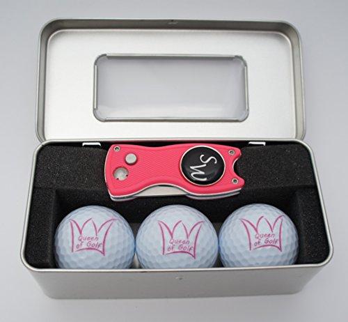 le Queen of Golf + Pitchgabel von Pitchfix mit personalisiertem Golfball-Marker ()