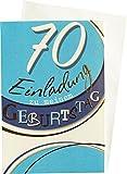 Einladungskarten Klappkarten 70. Geburtstag mit Innentext 54-H2770