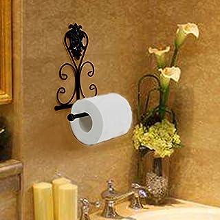 WC Papier Halter, Vintage Eisen Wand montiert WC-Papier Handtuch Roll Halter 21*10*18cm Schwarz