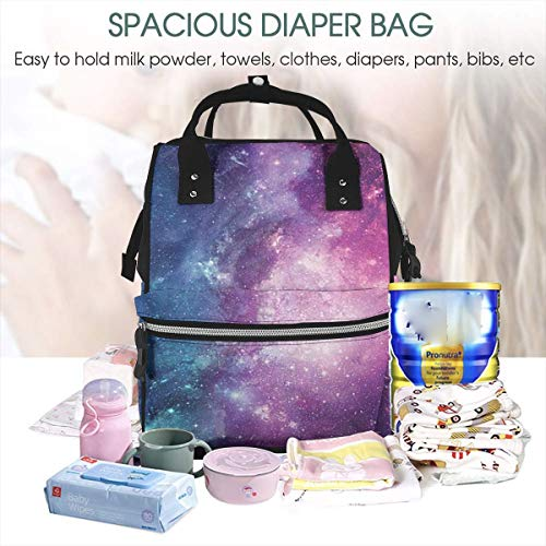 UKFaaa Large Diaper Bag Backpack,Star Classic Stylish Colorful Large Capacity and Multi-Function Back Pack Organizer with Baby Insulated Pockets -