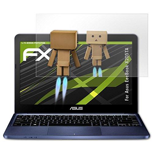 Asus X205 Notebook-pc (atFoliX Displayschutz für Asus EeeBook X205TA Spiegelfolie - FX-Mirror Folie mit Spiegeleffekt)