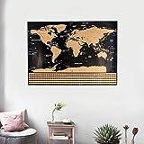 Romote Scratch off Scratch World Map Deluxe Erase Personalizzato di Viaggio per i Mappa Nero Mappa del Mondo in Camera Home Pittura Decorazione Adesivi murali