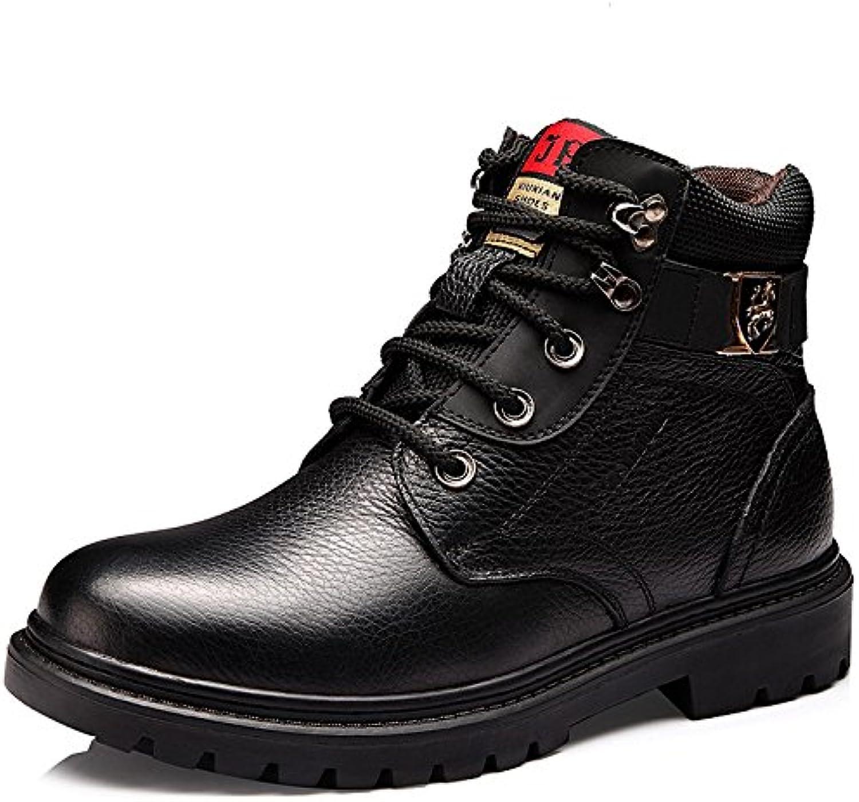 HL PYL   Martin Stiefel hohe Stiefel für Retro Plus Samt für Schuhe Stiefel Leder Stiefel  40  Schwarz