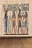 YongFoto 1x1,5m Vinyl Foto Hintergrund Antikes Ägypten Szene Wandbilder Pharao Tempel Hieroglyphisch Ägyptischer Papyrus Fotografie Hintergrund für Fotoshooting Portraitfotos Fotografen Kinder Fotostudio Requisiten