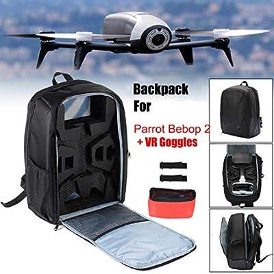 Gaddrt Portable Bag Backpack Shoulder Carrying Case for Parrot Bebop 2 Power FPV Drone Black