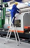 Format 4031405401068 - Stufen-stehleiter alu 6 stufen mit brñcke