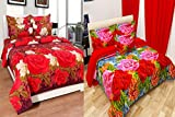 #4: Combo Grace Cotton King Size Double Bedsheet, Combo Set of 2 Bedsheet and 4 Pillow covers From Fashion Hub