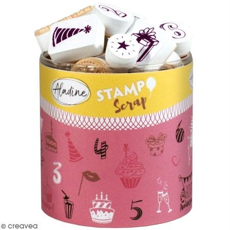 Aladine 03745 Stampo Scrap zum Geburtstag 2