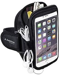 Avantree Brassard Anti-transpiration en néoprène pour grand téléphones, iPhone 6 6S Plus, Samsung Galaxy Note 5 S5, Google Nexus 6P, avec porte-clés et porte-cartes, pour toutes sortes d'exercices dont Gym Jogging Sport - Trackpouch