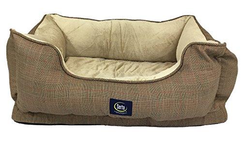serta-serta-cuddler-dog-bed-brown-plaid