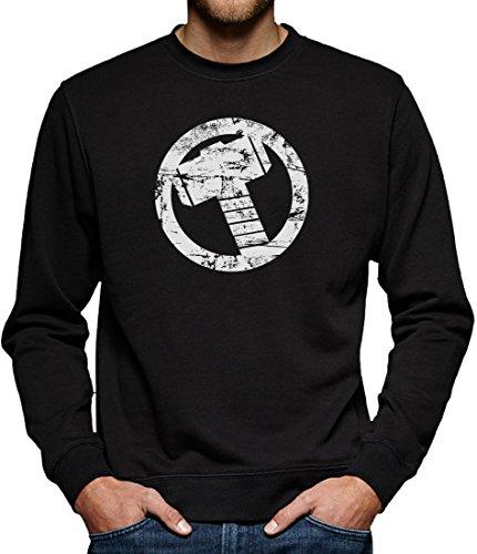 TLM Thor Hammer Sweatshirt Pullover Herren XXXL Schwarz (Flash Superhelden Kostüm Hund)