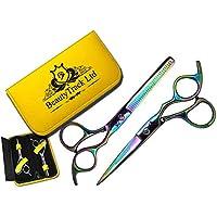 Profesional tijeras de peluquería Peluquería corte de pelo tijeras de peluquería adelgazamiento 5.5