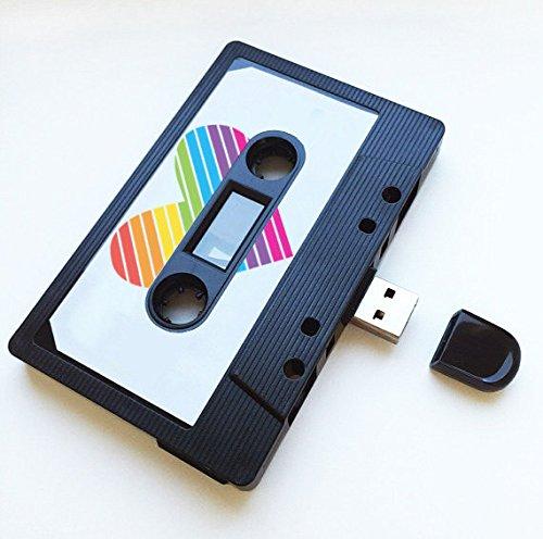 USB auténtico mixtape-retro personalized- Quirky Regalo–amantes de la música, presente, novio, novia, 90s, unidad flash transparente 16 gb