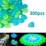 Ysoom - 300 Piedras Luminosas de Colores, Piedras Luminosas para la Oscuridad, Piedras flotantes para Acuario, jardín, Pasillo, habitación Infantil, decoración