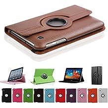 HSRpro 360° con función atril para Samsung Galaxy Tab 2 7,0 en marrón