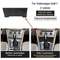 Bomcomi Remplacement pour Le Golf 2013-2017 Allume-Cigare Panneau décoratif en Fibre de Carbone Couverture Autocollants