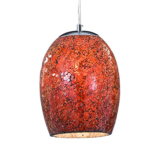 Pendant Ceiling Light Shade Hanging Mosaic Glass Fitting ; colours Red,Orange,Bronze,White ; American Diner Dome Lights