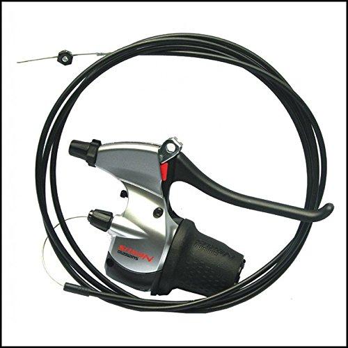 Shimano Schalt-Bremshebel Nexus SB8S20 8-Gang Revo-Shift V-Brake schwarz/silber (Nexus Bremshebel)