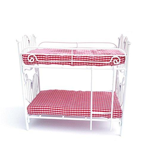 Puppenhaus Möbel mini Bett DIY 1:12 Puppenstube Schlafzimmermöbel Stockbett (Puppenhaus Etagenbett)