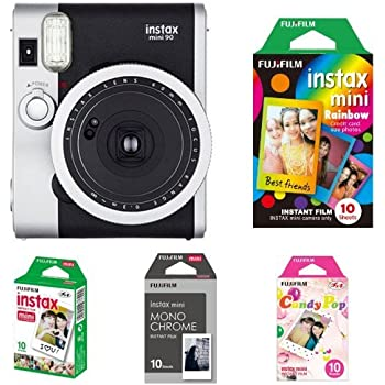 Fujifilm Instax Mini 90 Neo Classic Kamera schwarz + Film Box