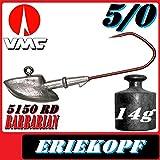 VMC Jigkopfhaken Jigkopf Eriekopf 5/0 14g Jighaken 5 Stück im Set