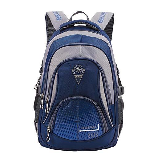 Leefrei Schulrucksack Schulranzen Schultasche Sports Rucksack Freizeitrucksack Daypacks Backpack für Mädchen Jungen & Kinder Damen Herren Jugendliche mit der Großen Kapazität (Vintag-Blau2)