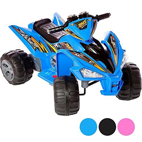 RIP-X Kids 12V Sports Style Ride On Electric Quad Bike - Blue