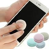 Color Caramelo Limpiador de Pantalla, Maccaron Teléfono Móvil Llavero Adornos, para Ordenador, Teléfonos Móviles, iPad, Ordenador Portátil, SLR y Gafas (Caqui)