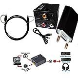 Easyday 3,5 mm Toslink Koaxial Optik Digital zu RCA Analog Audio Konverter Wandler mit Netzteil und optisches Kabel