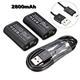 #8: Premium 2Pcs 2800mAh Batteries Pack + USB Cable for Micro Xbox One Wireless Controller