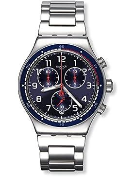 Swatch Herren Armbanduhr Digital Quarz Edelstahl YVS426G