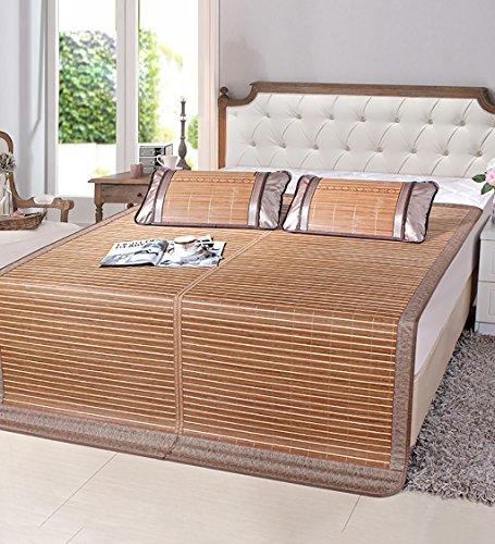 WUFENG Faltbare Bett-Matte Supercool Bettwäsche Bambusmatten Gewebte Matratze Doppelseitige Verwendung Für Sommer-Twin/Full/Queen/King Size (Farbe : A, größe : 90 * 190cm) -