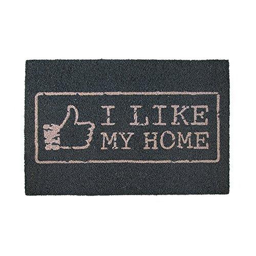Fußmatte - I like my home | Fußabtreter lustig | Türvorleger mit Spruch | Schmutzmatte Eingangsbereich | Geschenk für Männer | Preis am Stiel®