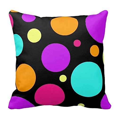 Bags-Online Colorful Big and Small Polka Dots Pillow Case Cover Home Office Decorative - Teen Hello Kitty