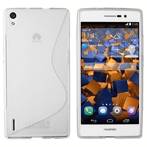 mumbi S-TPU Schutzhülle für Huawei Ascend P7 Hülle transparent weiss
