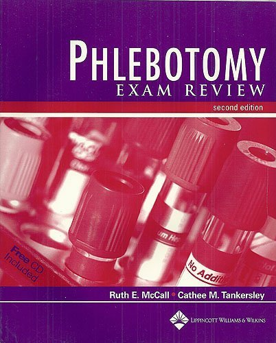 Phlebotomy Exam Review (Book with CD-ROM) Paperback March 15, 2003